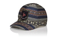 Gucci Men's Snake Embroidered Jacquard Baseball Cap Navy Blue