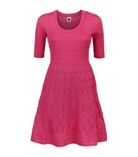 M Missoni Knit Fit And Flare Dress Female Pink