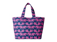 Lilly Pulitzer Beach Tote Indigo Pack Your Trunk Tote Handbags Pink
