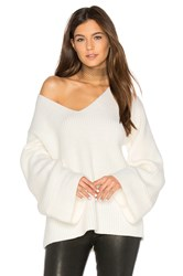 Finders Keepers Frederick Flare Sleeve Knit White
