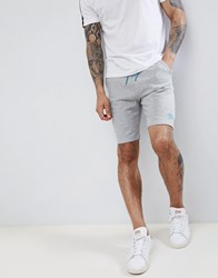 Tokyo Laundry Jersey Shorts With Neon Highlights Light Grey Marl