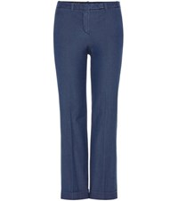 Loro Piana Hayden Cotton Trousers Blue