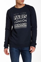 Scotch And Soda Crew Neck Graphic Sweatshirt Black