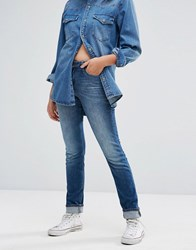 Lee Elly Slim Straight Mid Rise Jeans Chelsea Aged Blue