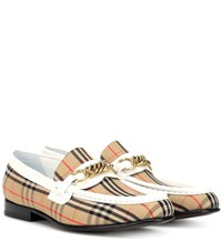 Burberry 1983 Check Link Loafers Beige