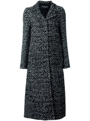Giambattista Valli Long Tweed Coat Black