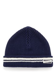 Scotch And Soda Cotton Beanie Blue