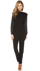 Band Of Outsiders X Atari Asteroids 7800 Jumpsuit Black