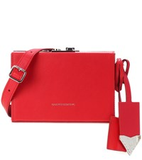 Calvin Klein 205W39nyc Leather Crossbody Bag Red