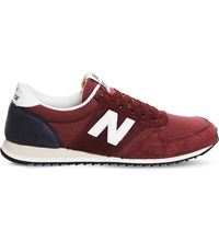 New Balance 420 Low Top Suede And Mesh Trainers Maroon Navy Vi