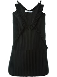 Givenchy Pleated Sleeveless Top Black