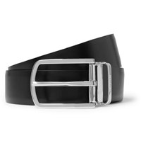Hugo Boss 4Cm Black And Brown Ofisy Reversible Leather Belt Black