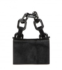 Calvin Klein Calf Hair Handbag Black