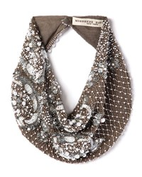 Mignonne Gavigan Le Charlot Beaded Scarf Necklace Gray