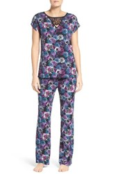 Midnight By Carole Hochman Women's Jersey Pajamas Purple