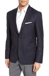 Nordstrom Men's Big And Tall Men's Shop Classic Fit Wool Blazer Navy