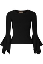 Michael Kors Collection Stretch Knit Sweater Black