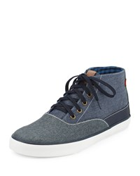 Ben Sherman Percy Hi Colorblock Canvas Sneaker Navy Blazer
