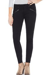 Vince Camuto Two By D Luxe Twill Moto Jeans Rich Black