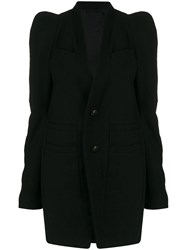 Rick Owens Textured Single Breasted Coat 60