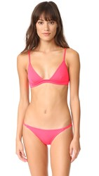 Solid And Striped Morgan Bikini Top Neon Red