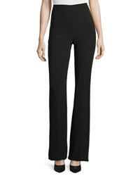 Theory Demitria Admiral Crepe Flare Leg Pants Black