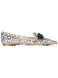 Jimmy Choo Gala Slippers Metallic