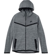 Nike Melange Tech Knit Zip Up Hoodie Gray