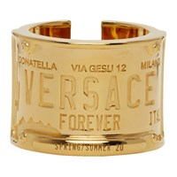 Versace Gold License Plate Ring