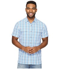 Royal Robbins Diablo Plaid Short Sleeve Merlin Blue Men's Short Sleeve Button Up