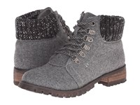 Chinese Laundry Tracker Dark Grey Women's Work Lace Up Boots Gray