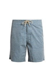 Faherty Fishscale Print Swim Shorts White Multi