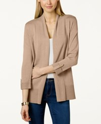 Charter Club Open Front Cardigan Only At Macy's Cashew Crisp
