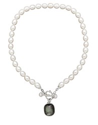 Honora Sterling Silver Freshwater Pearl And Black Mother Of Pearl Necklace