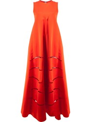 Maison Rabih Kayrouz Cut Out Detail Dress Cotton Polyester Red