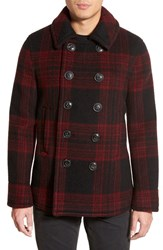 Men's Burberry Brit 'Mannton' Wool And Mohair Peacoat