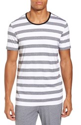 Daniel Buchler 'S Stripe Crewneck Pima Cotton And Modal T Shirt Black Stripe