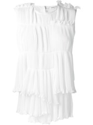 Sonia Rykiel Pleated Sleeveless Top White