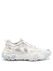 Acne Studios Boltzer Distressed Mesh Trainers White