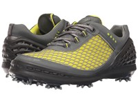 Ecco Cage Sport Sulphur Concrete Black Men's Golf Shoes Yellow