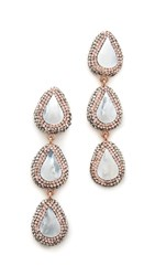 Native Gem Three Tier Earrings Mother Of Pearl Rose Gold