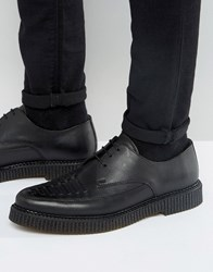 Religion Leather Creeper Derby Shoes Black