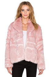 State Of Being Powderpuff Faux Fur Coat Pink