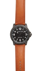 Michael Kors Paxton Leather Watch Black Black