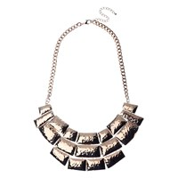 Adele Marie Beaten Effect Collar Necklace Rose Gold