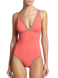 Lahco One Piece Coco Sport Swimsuit Coral Multi