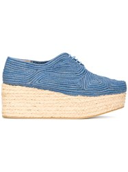 Robert Clergerie Pintom Platform Shoes Blue