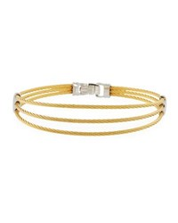 Alor Three Row Split Cable Bangle Gold