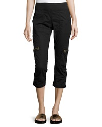 Xcvi Nadia Cropped Cargo Pants Black