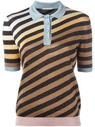 Marco De Vincenzo Striped Polo Shirt